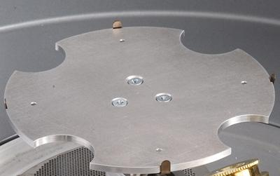 "Optional flat rotation stage for 100mm/4"" wafers"