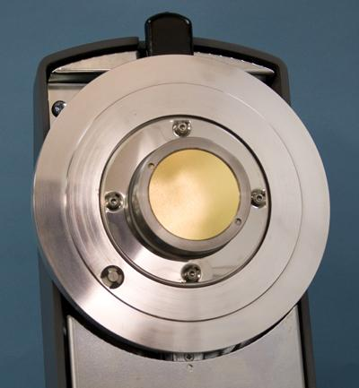 Sputtering insert. Gold (Au) fitted as standard, but other metals available